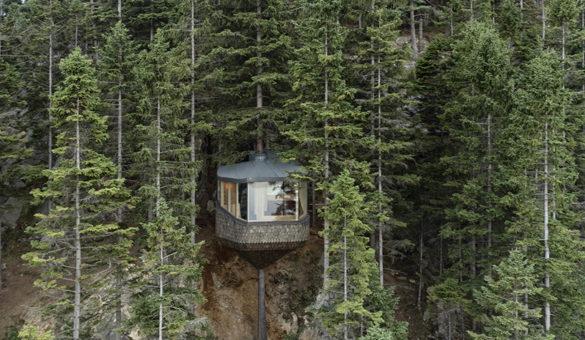 cabane Woodnest de l'agence Helen & Hard